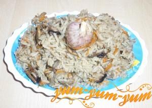 Как приготовить плов с грибами