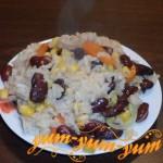 Как приготовить рис с кукурузой и овощами