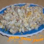 Как приготовить салат из кукурузы и шампиньонов