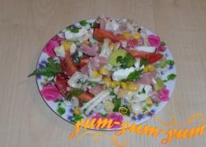 Как приготовить салат с сыром и кукурузой