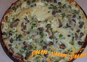Как приготовить заливной пирог с грибами