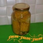 Рецепт маринованной кукурузы