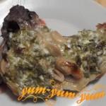 Рецепт стейка с грибами
