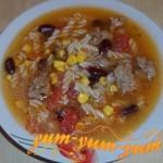 Рецепт томатного супа с кукурузой