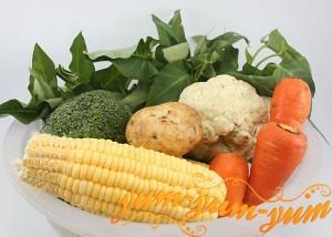 Свежие овощи в пароварке