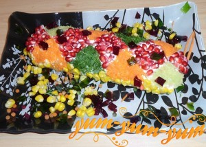 Как приготовить салат новогодняя хлопушка