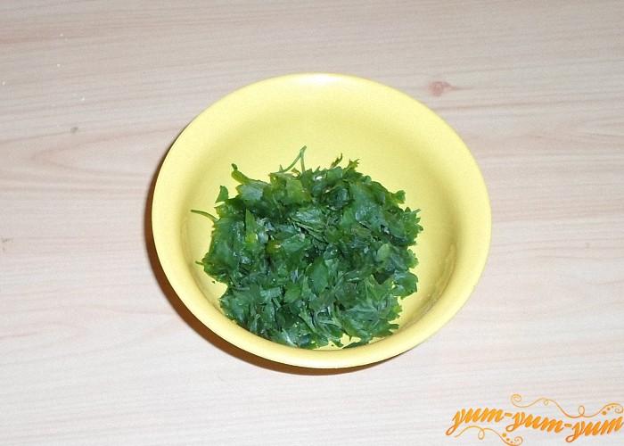Подготовить зелень или сушеную смесь