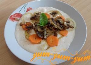 Как приготовить сырный суп пюре с шампиньонами