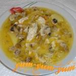 Рецепты сырного куриного супа