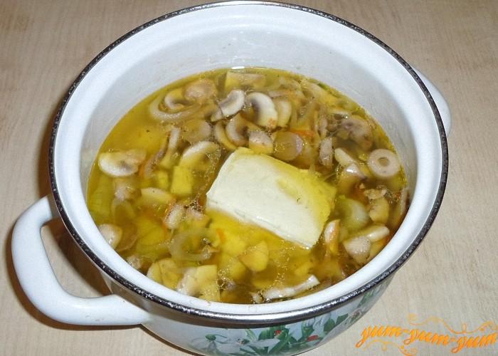 Сыр добавить в суп