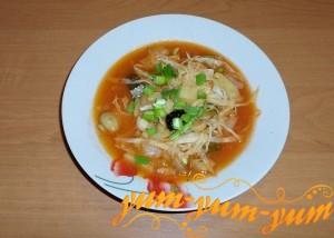 Грибная суп-солянка
