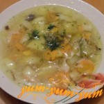 Рецепт грибного супа с картофелем