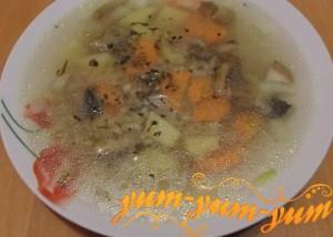 Рецепт грибного супа с перловкой