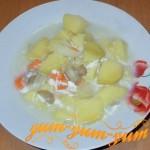 Суп из соленых грибов
