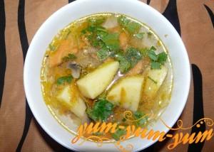 Готовим суп из мороженых белых грибов