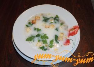 Приготовление грибного супа в мультиварке