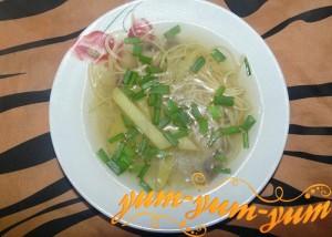 Рецепт домашнего супа-лапши с грибами