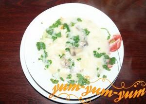 Рецепт супа с грибами и курицей