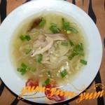 Вкусный суп из сухих белых грибов