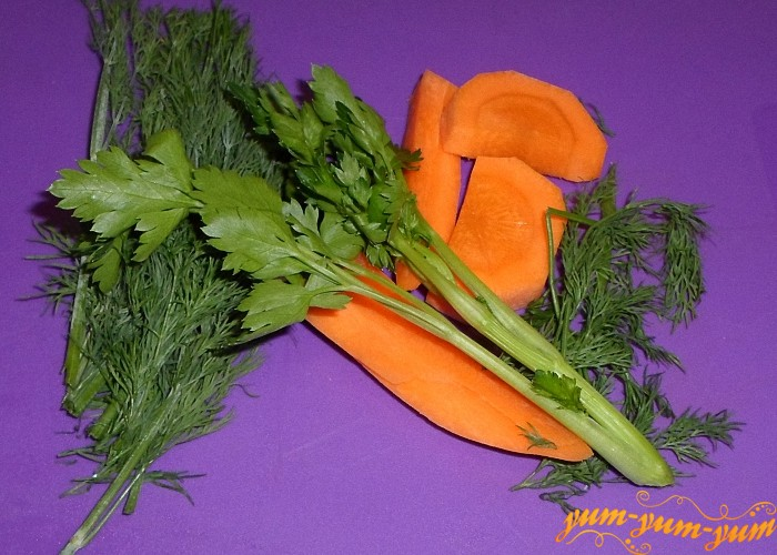 Из свежих овощей сварить бульон