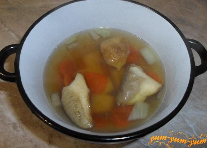 Классический грибной суп из белого гриба