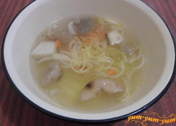 грибной суп из замороженных грибов с вермишелью и картофелем рецепт