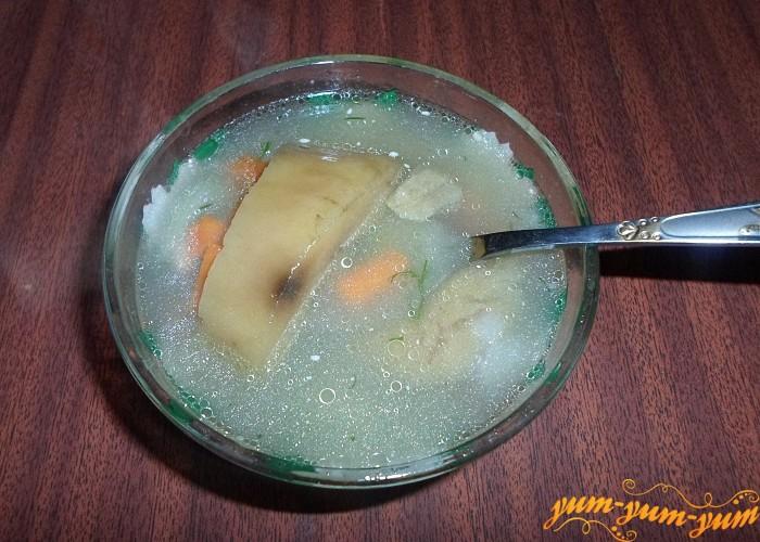 Суп из замороженных грибов с фасолью