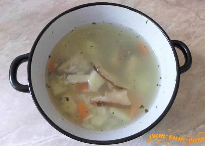 Вкусный постный суп из сухих грибов