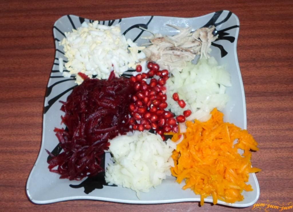 пошаговый рецепт салата гранатовый браслет с фото