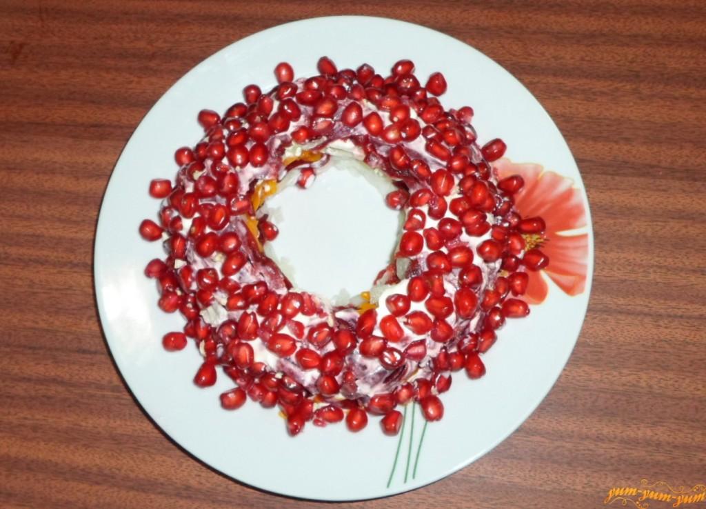 Салат гранатовый браслет рецепт с фото пошаговый