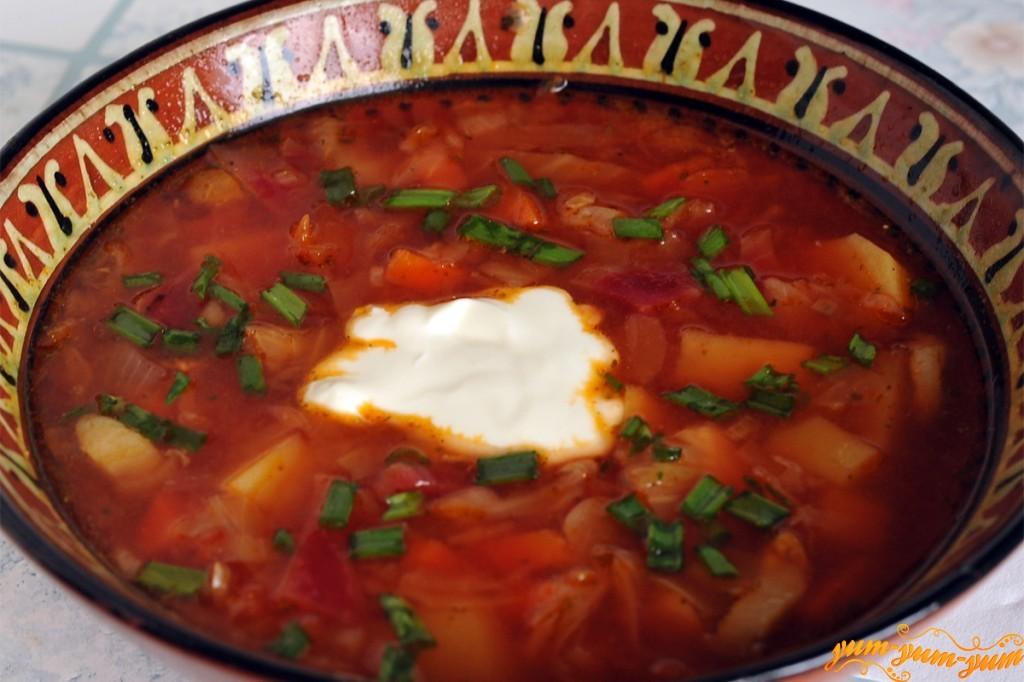 салом фото рецепт с с украинский борщ