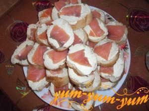 Бутерброды с сёмгой