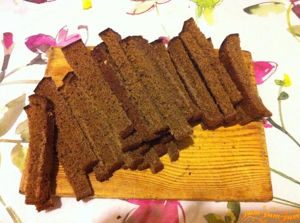 Гренки из черного хлеба к пиву рецепт с пошагово