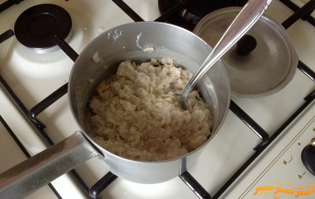 Как сварить геркулесовую кашу на молоке на плите пошагово