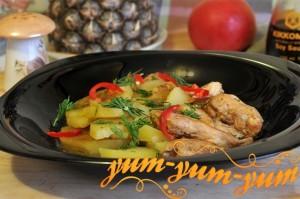 Рагу из курицы с картошкой