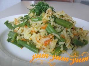 Стручковая фасоль с рисом