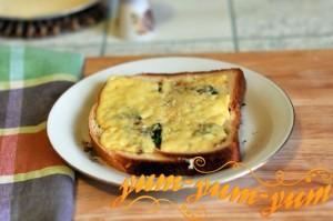 Горячий бутерброд с сыром в духовке
