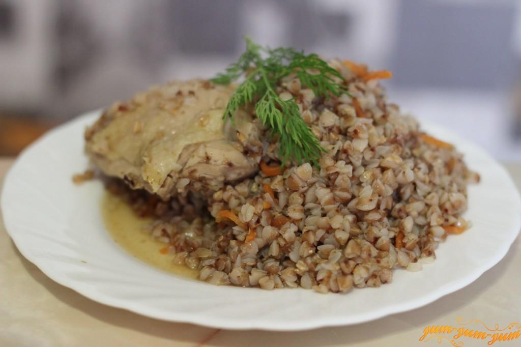Гречка с курицей в мультиварке рецепт пошагово с фото