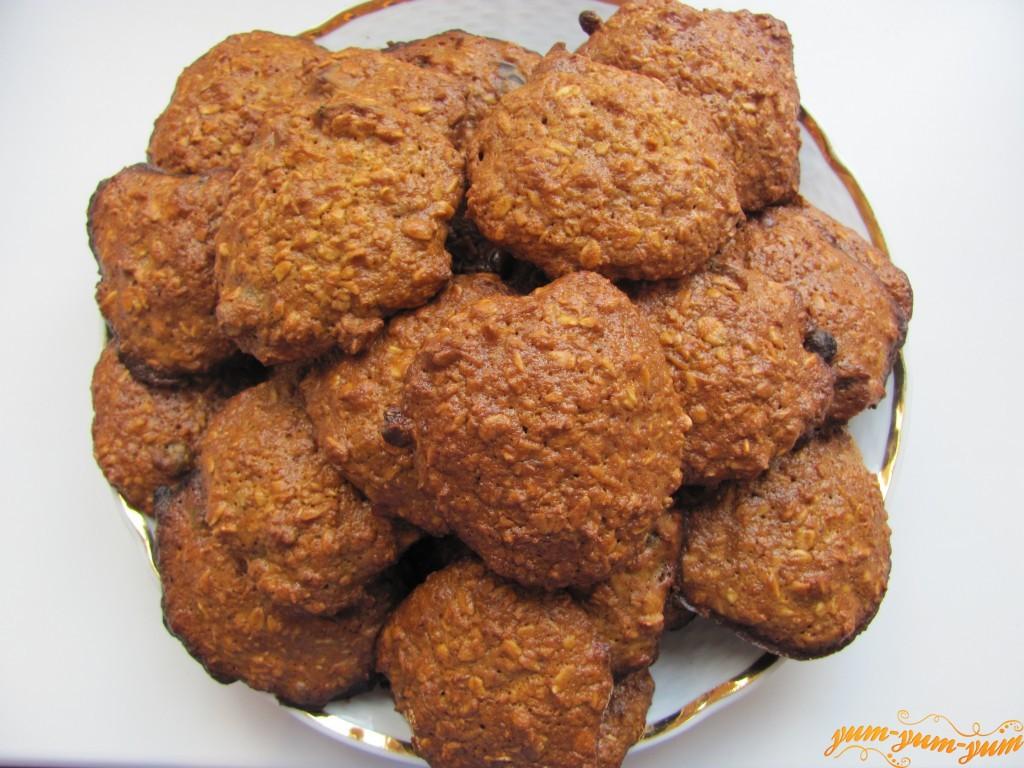 Овсяное печенье с кефиром рецепт с пошагово