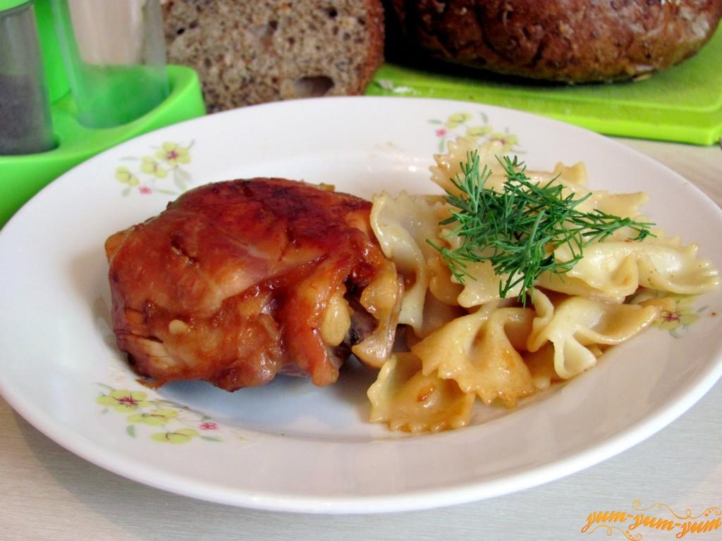 Куриные ножки с соевым соусом и медом в духовке рецепт с пошагово
