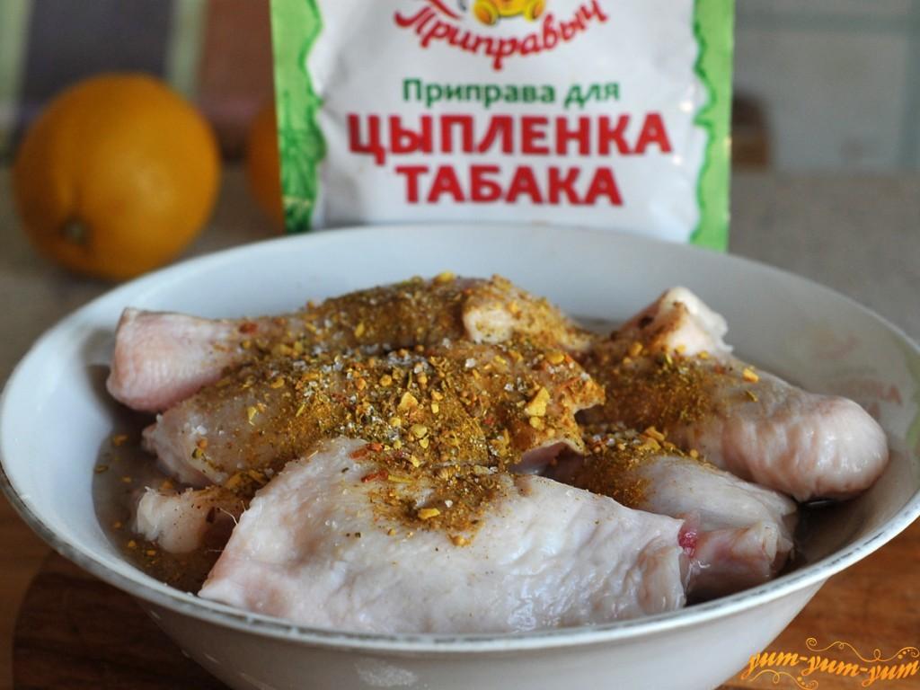 Цыпленок табака в сковороде рецепт с пошаговый рецепт с