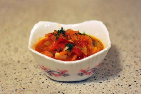 Рагу из овощей с кабачками